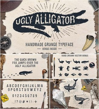 Ugly Alligator sans-serif font