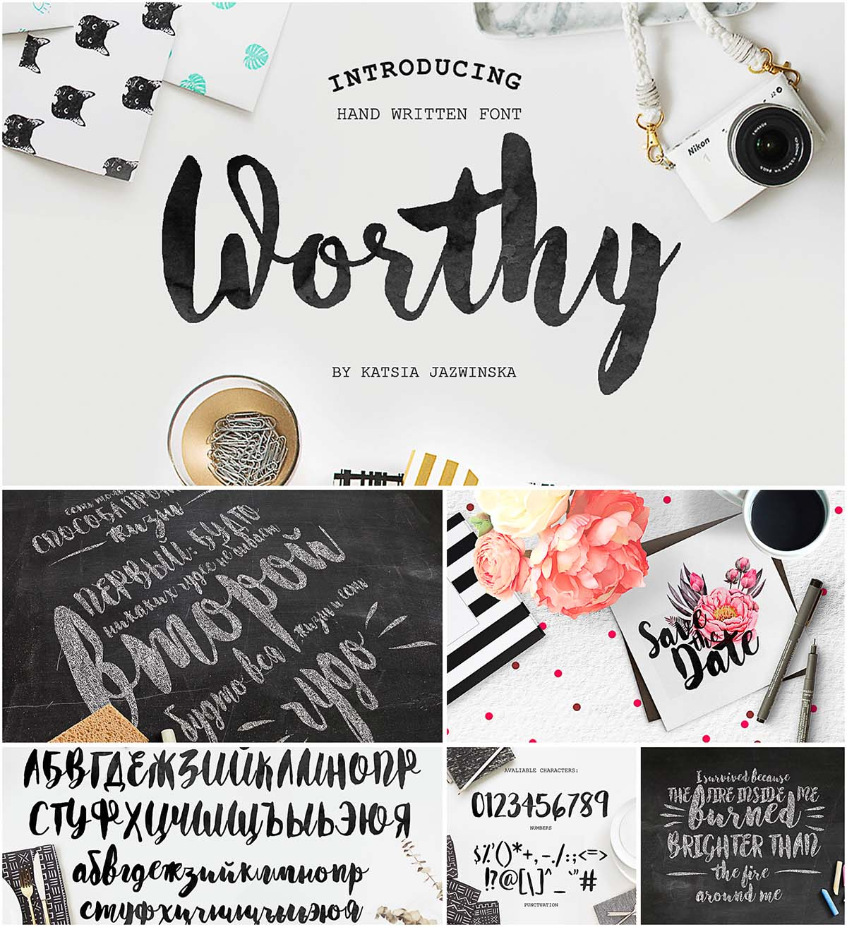 Worthy cyrillic and roman script | Free download