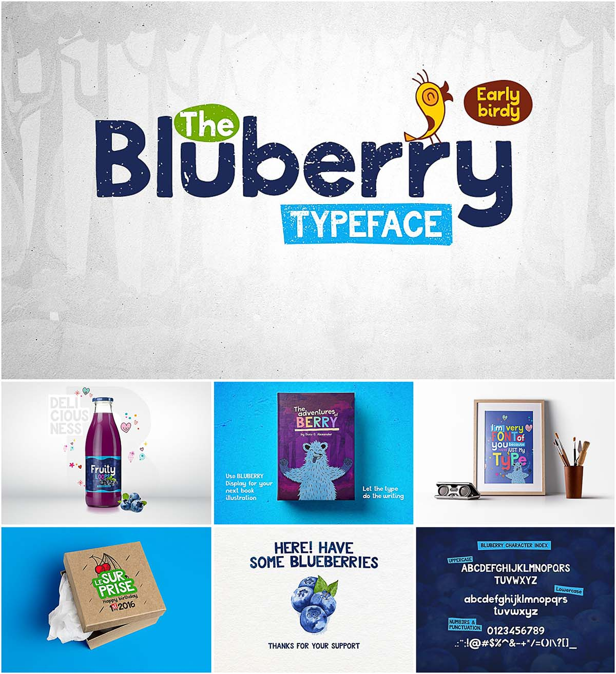 Bluberry simple typeface
