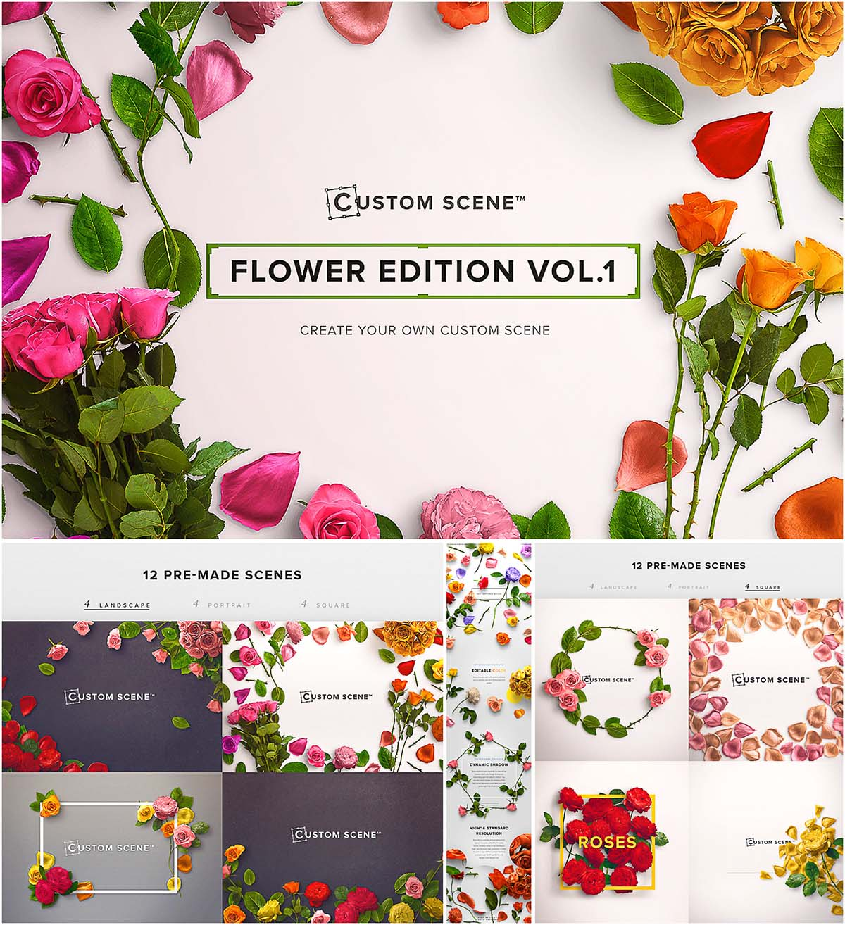 Flower edition custom scene
