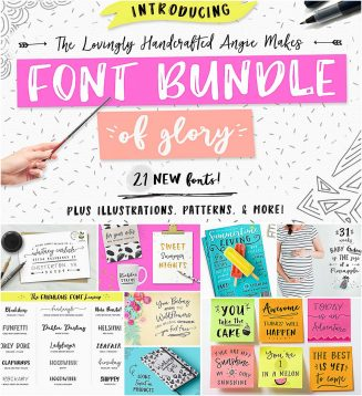Amazing font bundle with extras