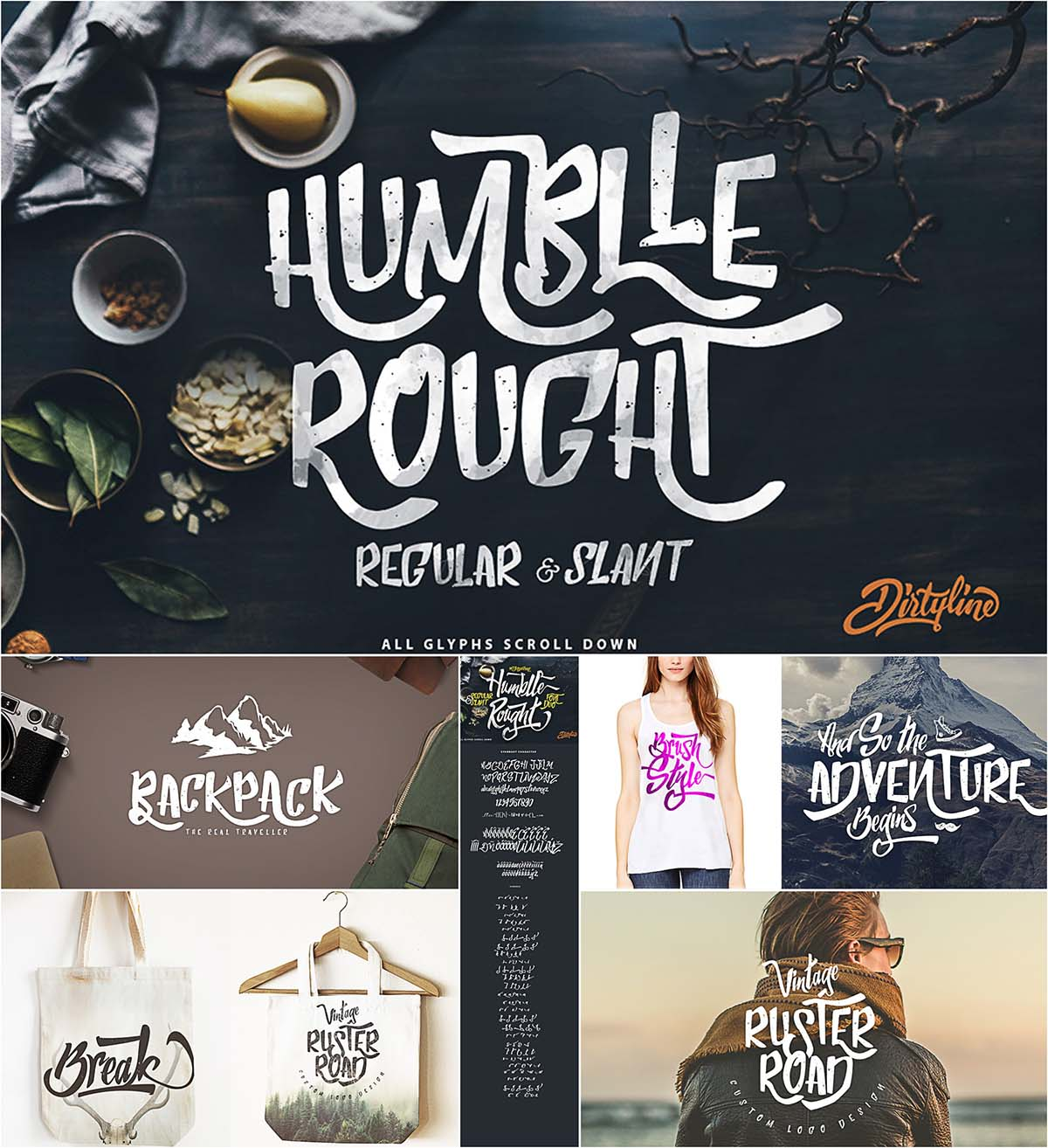 Humblle Rought font