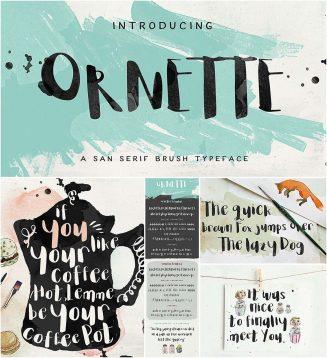Ornette hand drawn font