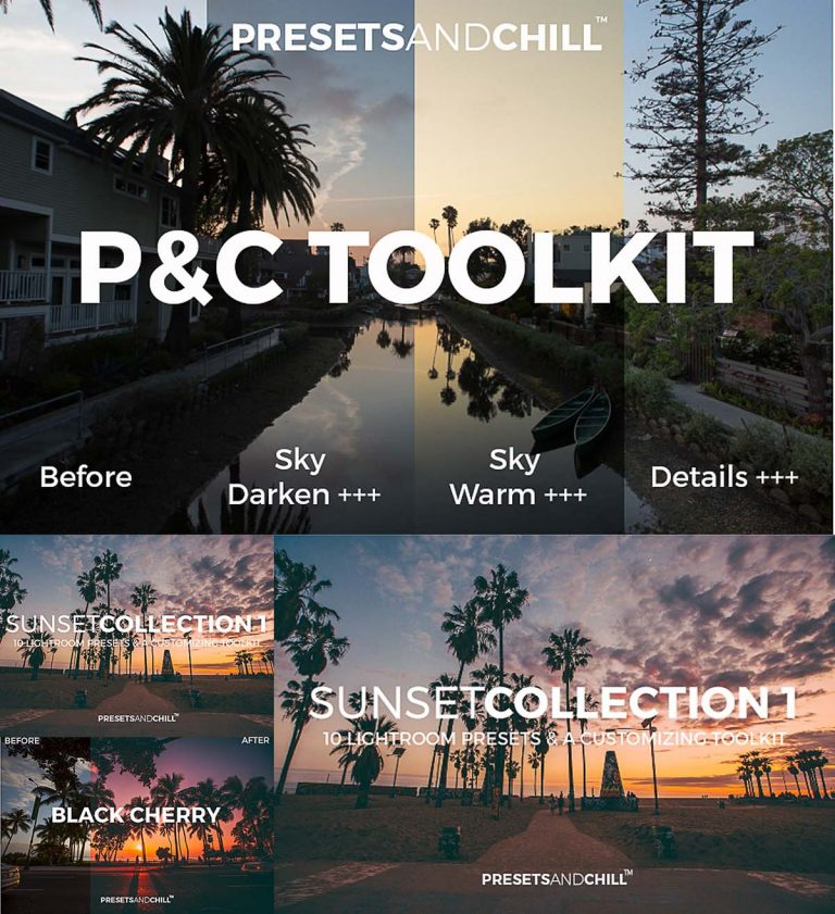 Lightroom presets set chill toolkit