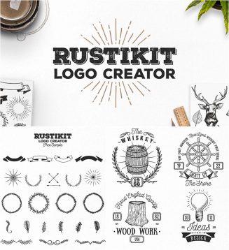 Rustikit logotype creator