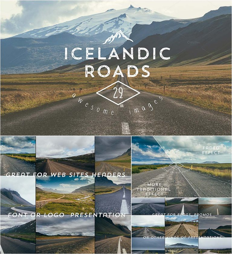 29 Icelandic roads backgrounds