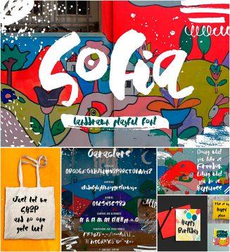 Sofia playful brush font