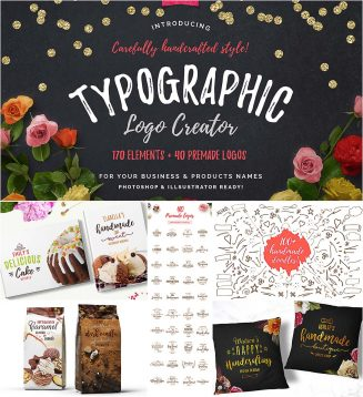 Typographic logo creation bundle
