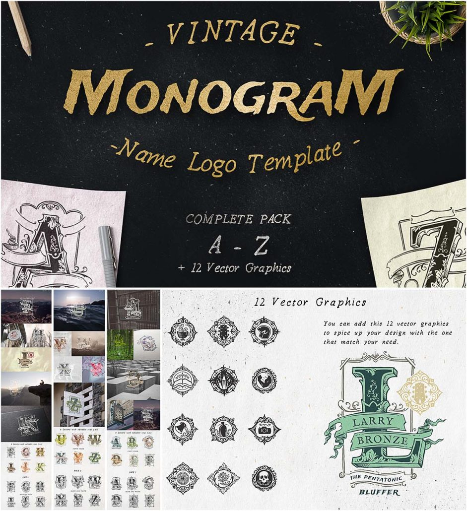 Vintage Monogram Logotype Pack
