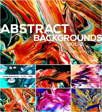 Abstract painted backgrounds set