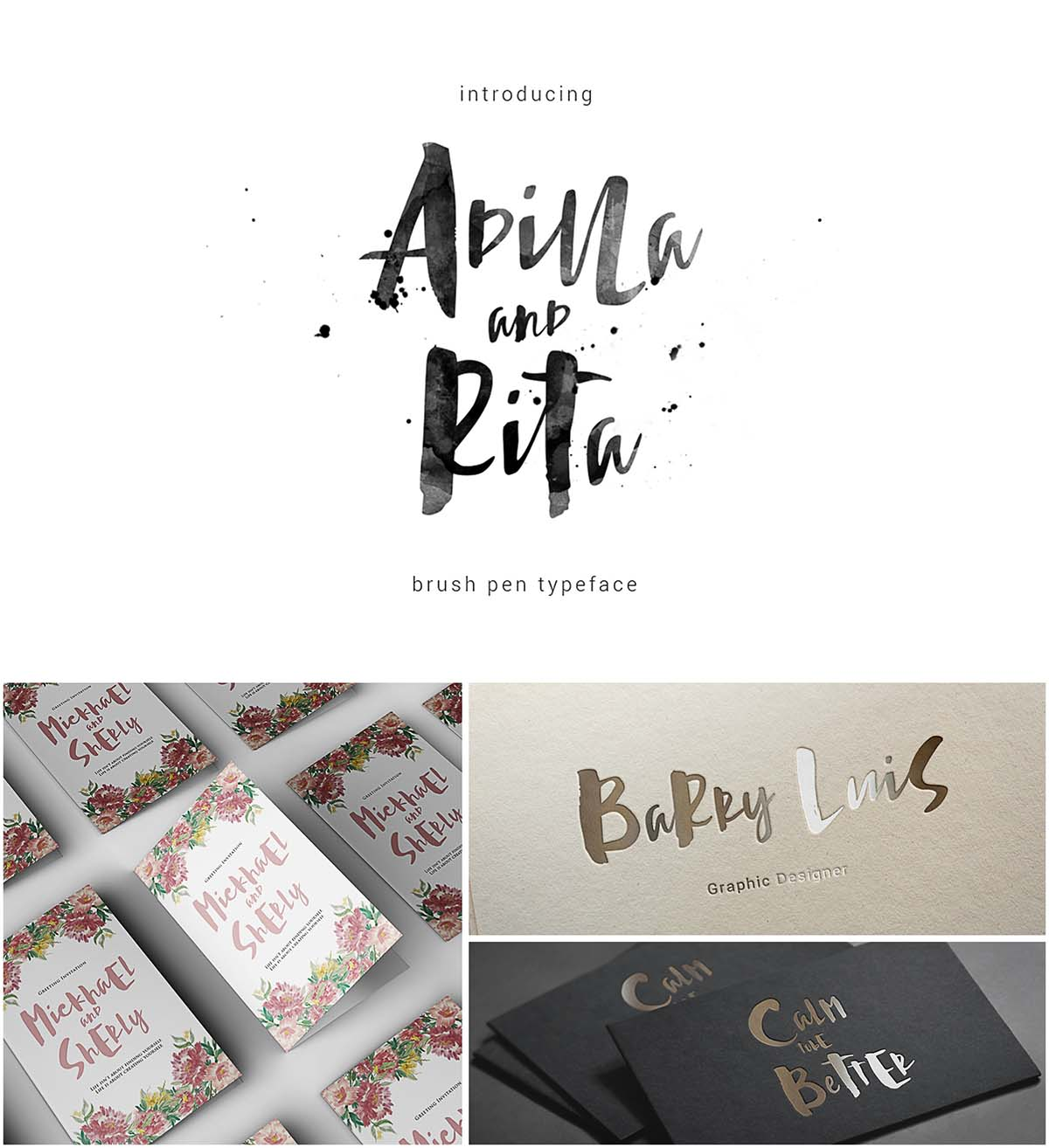 Introducing Adilla and Rita typeface. Perfect for: using in ink or ...