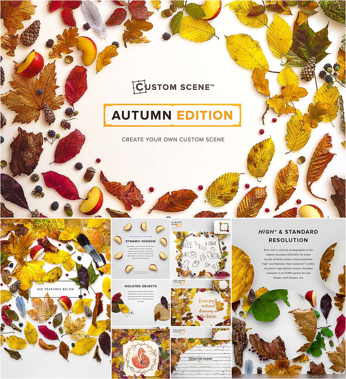 Custom scene Autumn edition mockup