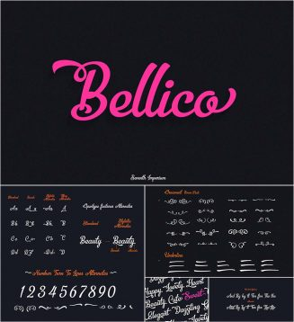 Bellico cursive typeface