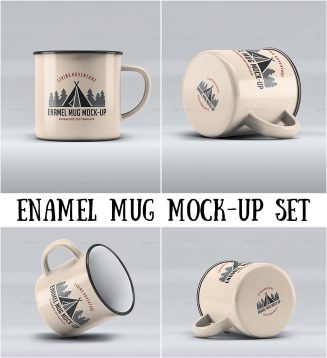 Enamel mug mockup collection