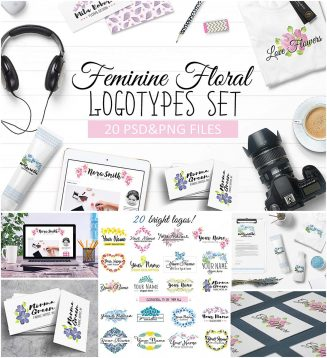 feminine logo collection