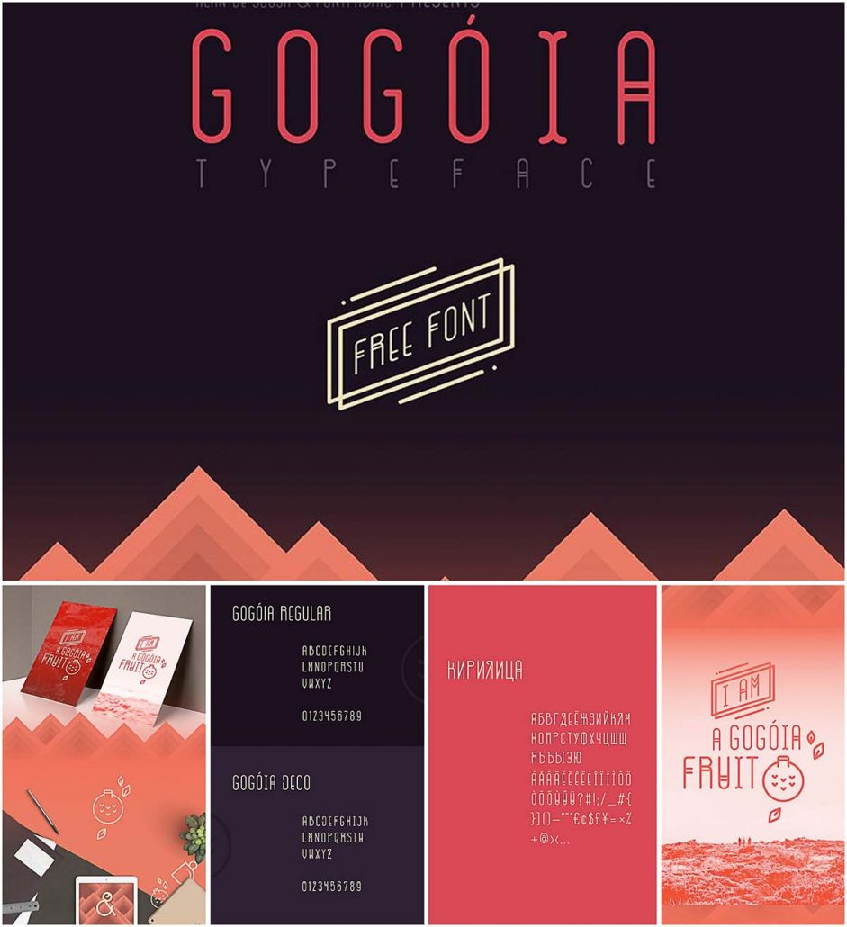 Download Gogoia decorative font with cyrillic typeface | Free download