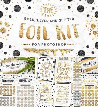 Gold foil and glitter kit with bonus