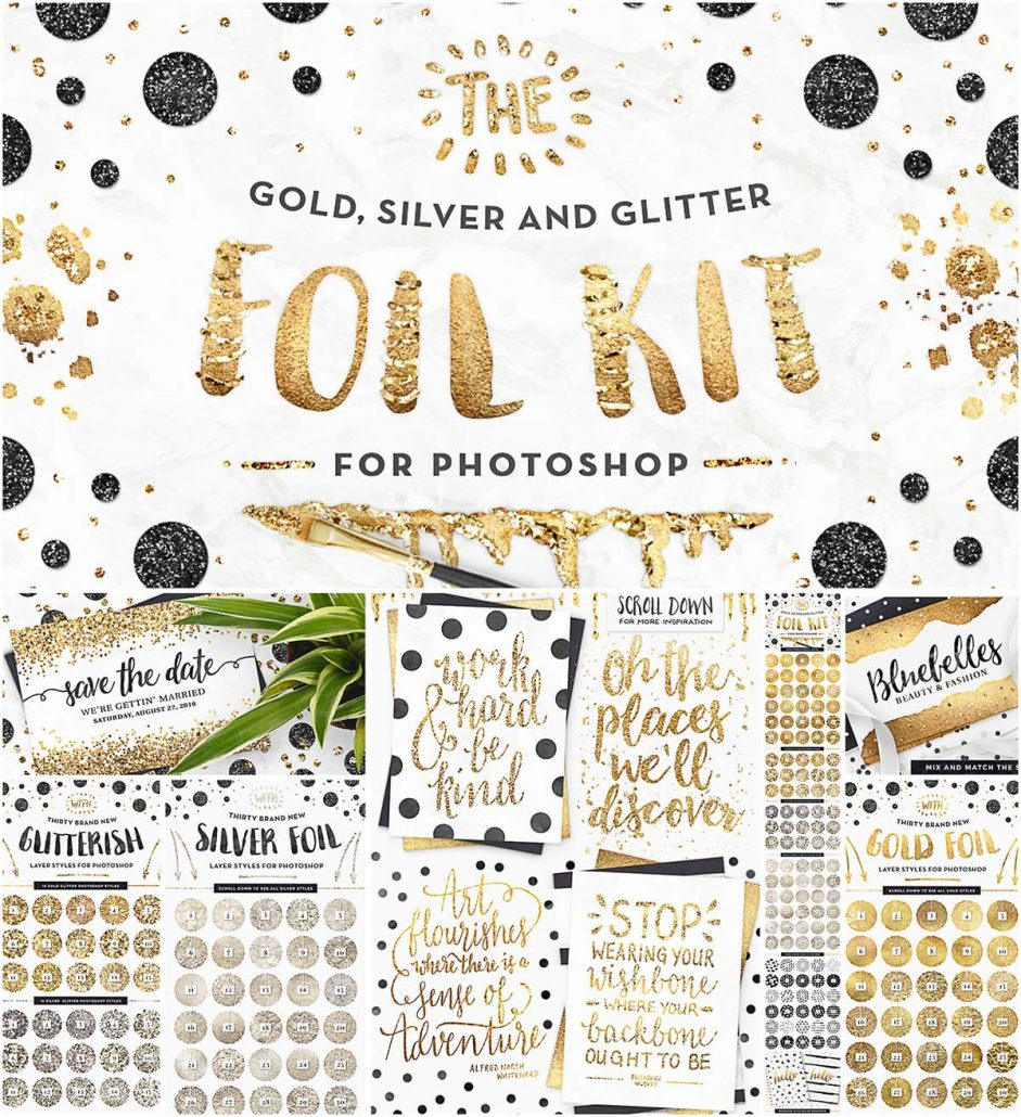 Gold Foil Kit Essentials With Patterns Free Download