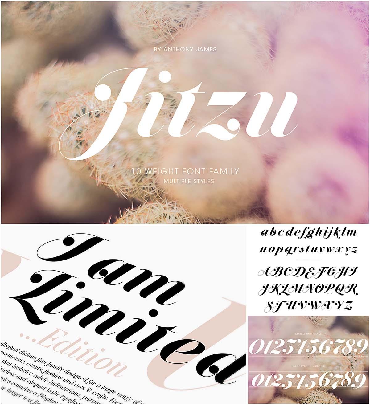 Jitsu decorative font