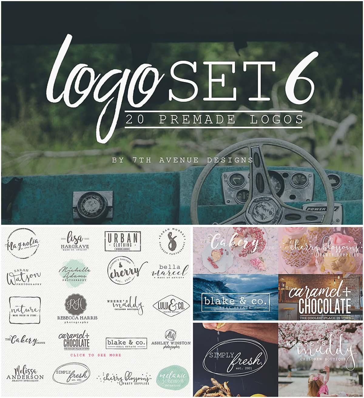 Simple and modern logo set