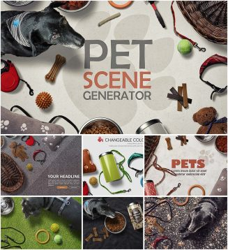 Pet scene creator with textures