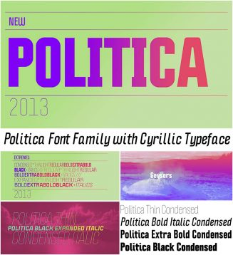 Politica font family cyrillic typeface