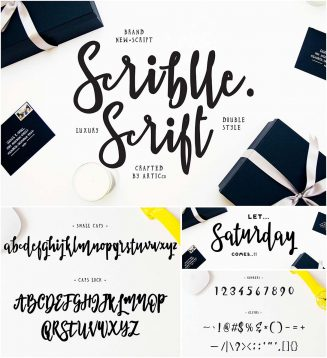 Brush font scribble