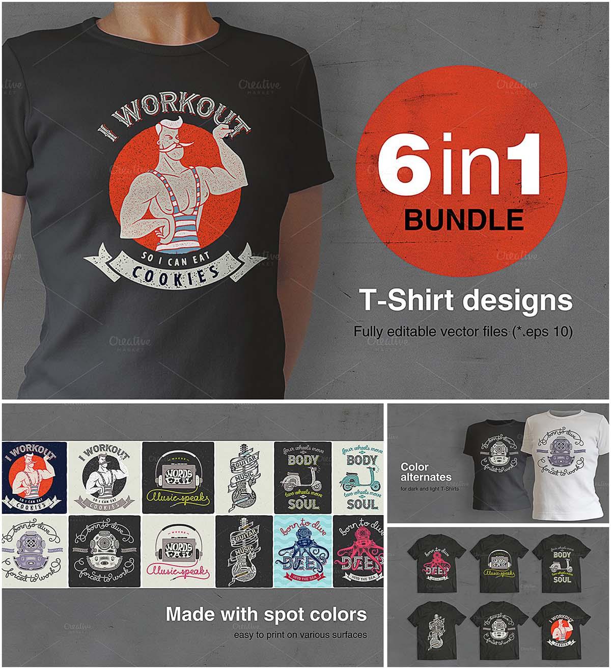 T-Shirts retro prints