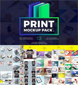 Print mockup big bundle