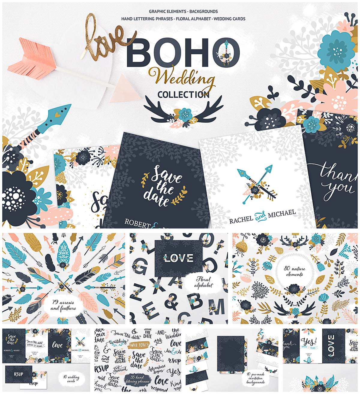 Boho wedding collection
