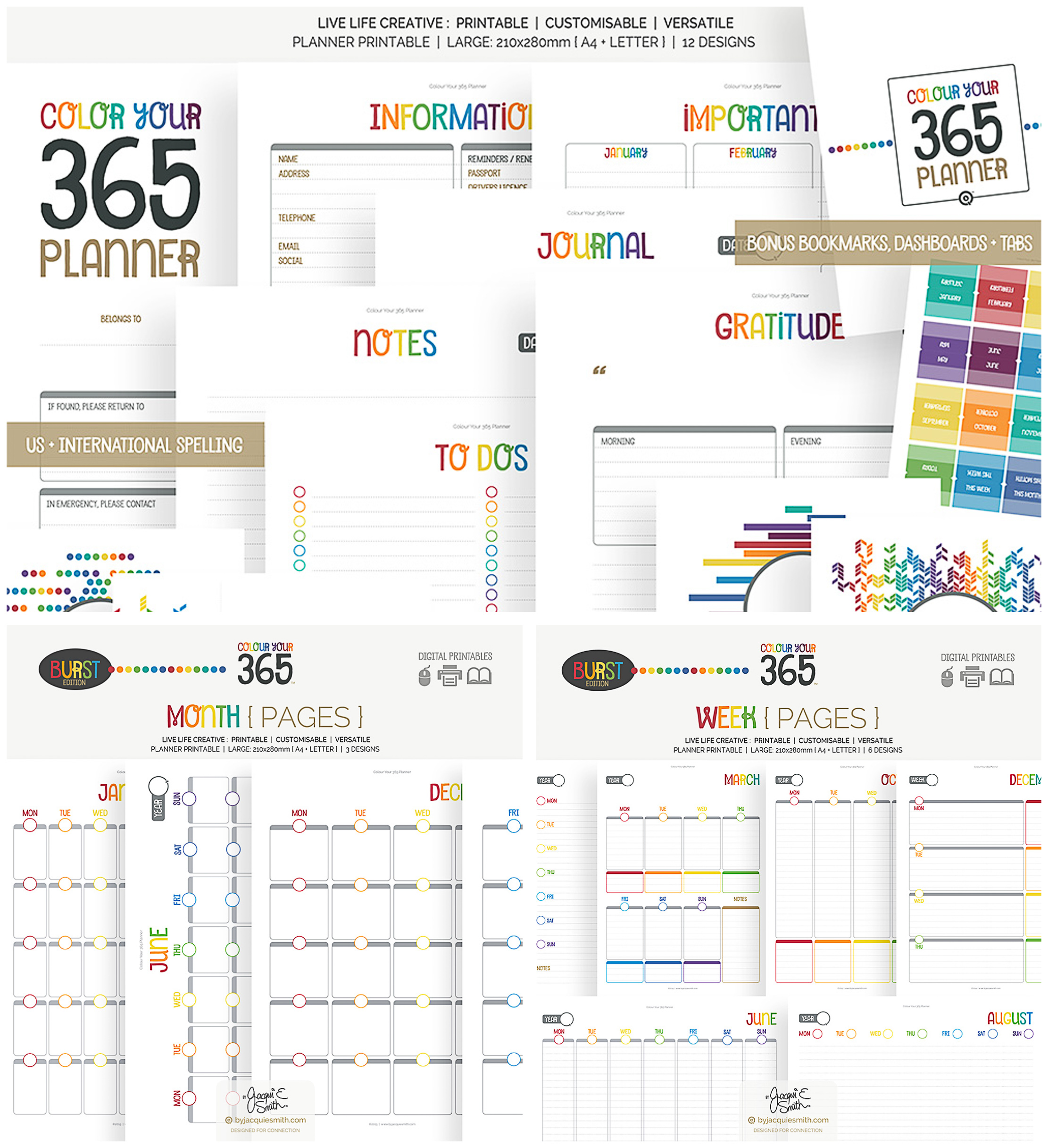 365 printable planner collection
