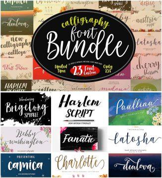Calligraphy fonts bundle