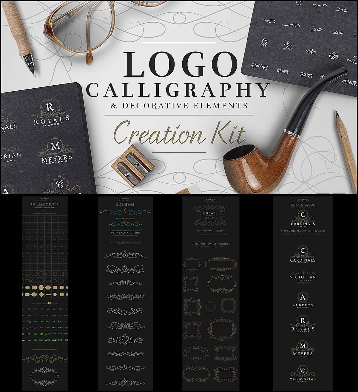 Caliigraphy logo creation kit