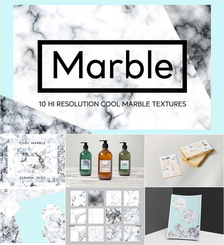 Cool marble texture set