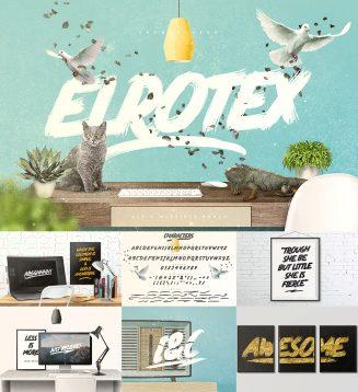 Elrotex brush font