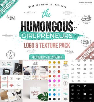 Humongous girlpreneurs big logo pack