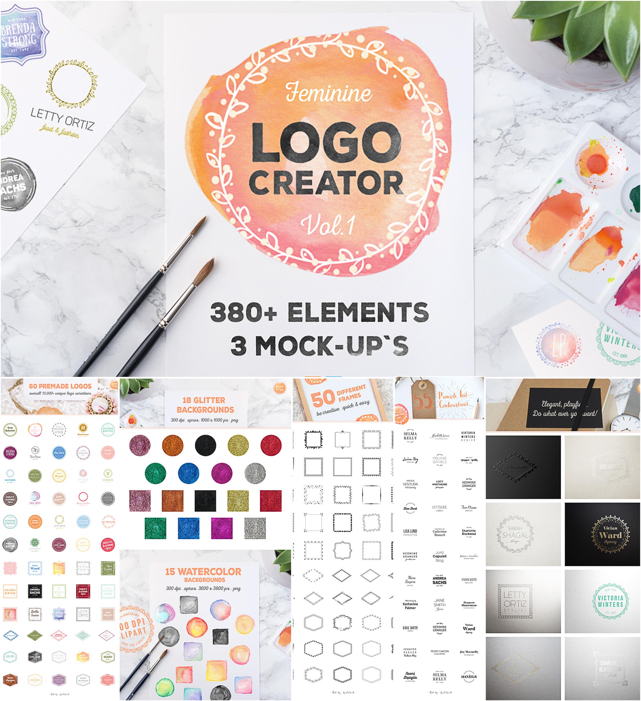 380 Logo creator set
