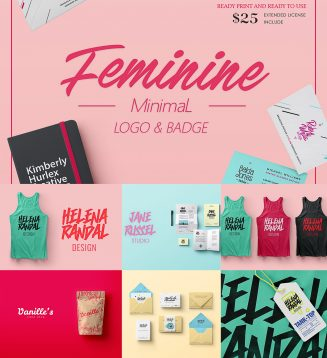 Feminine minimal logo collection