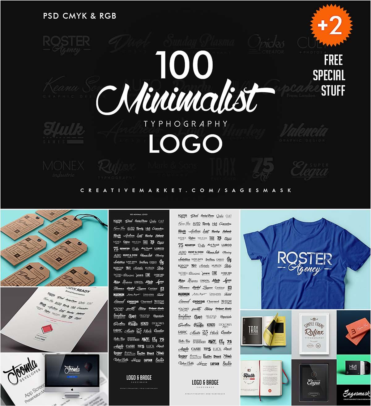 100 Minimalist logo collection