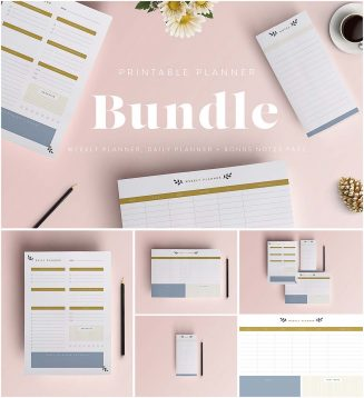 Minimalistic planner and to do list collection