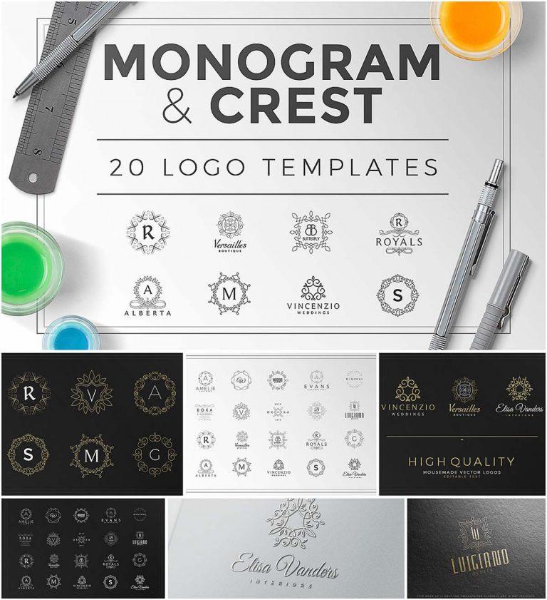 Monogram logo templates