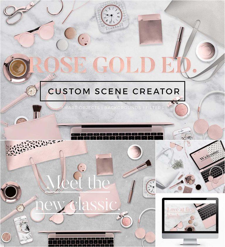 Rose gold custom scene creator