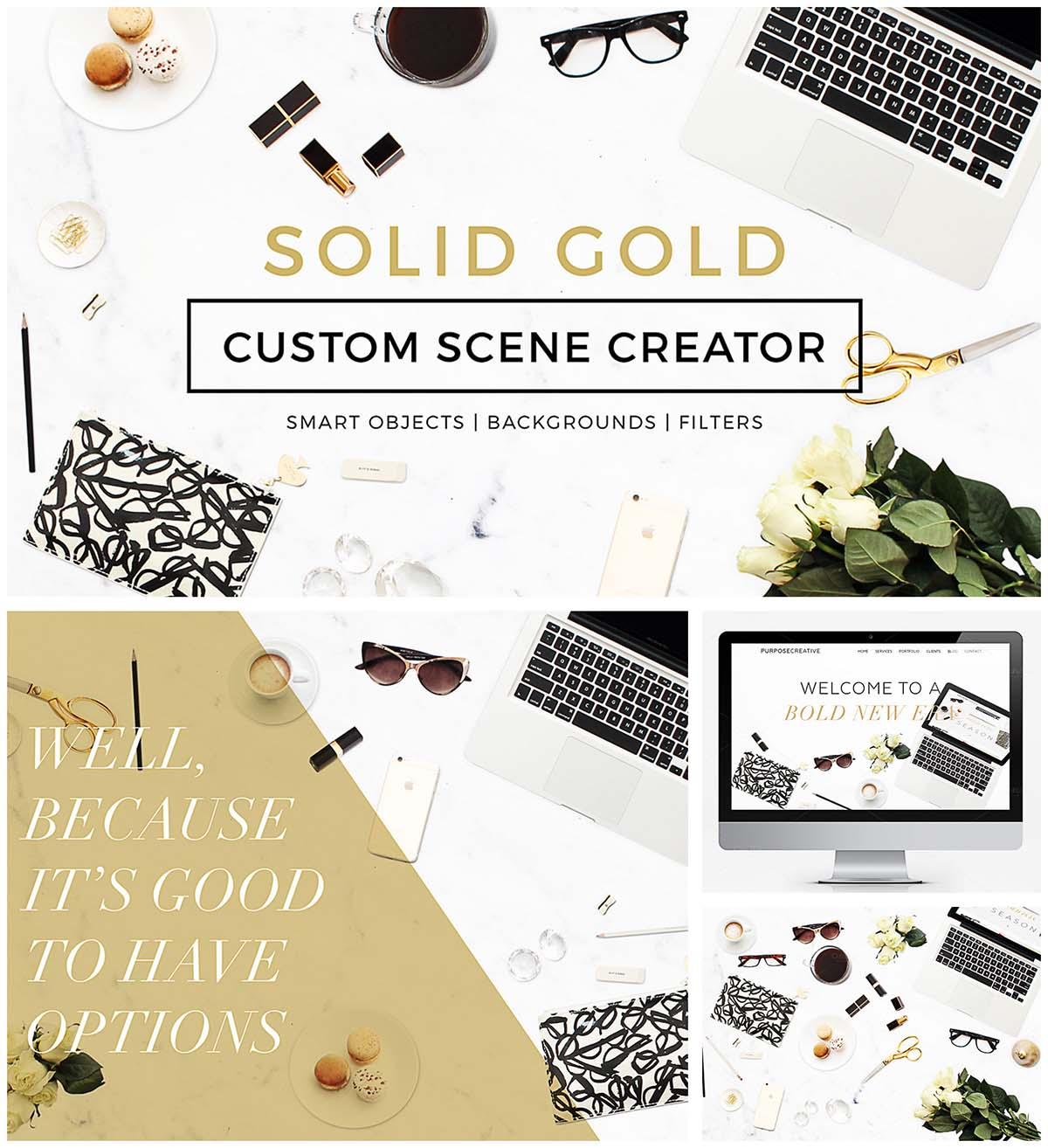 Solid gold custom scene creator