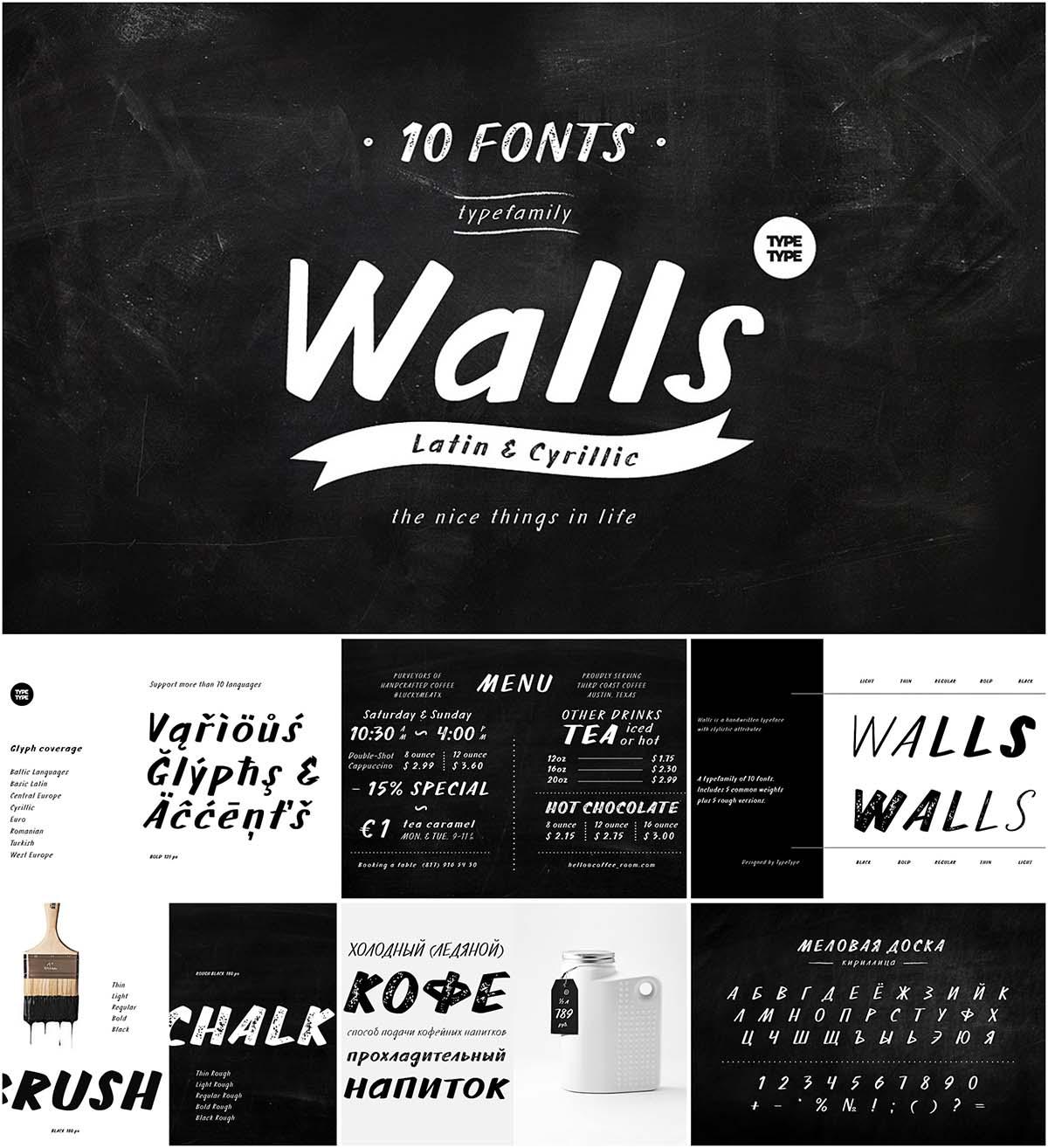 TT Walls font family