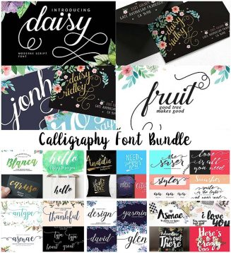 Calligraphy fonts collection