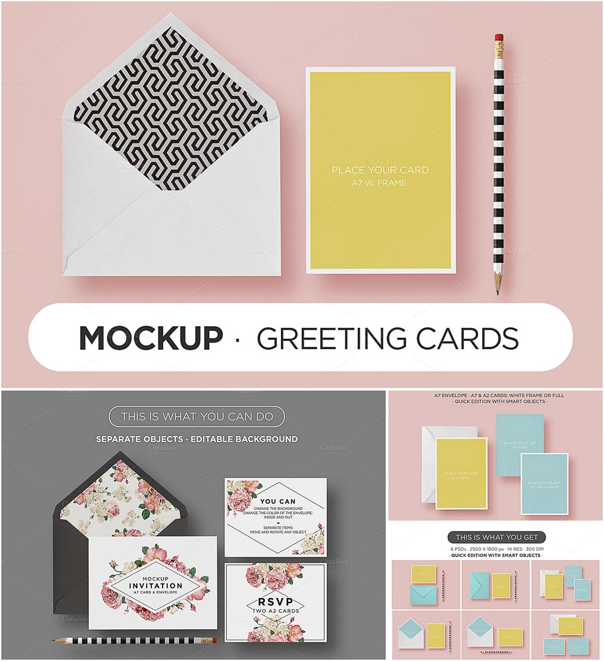 Greeting Cards Mockup Set