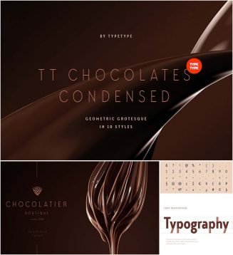 TT Chocolates Condenced font