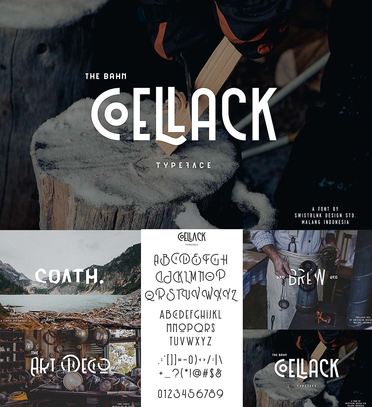 Swistblnk coellack typeface