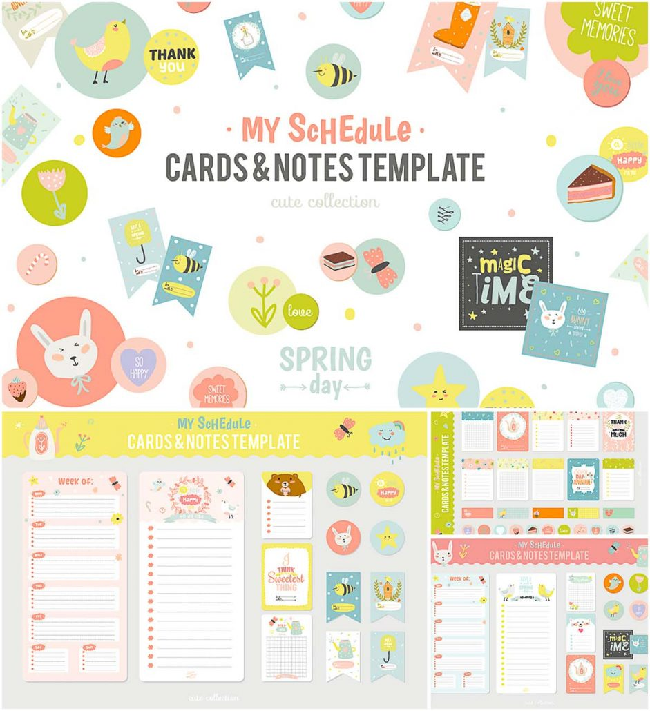 Cute planners and stickers set | Free download