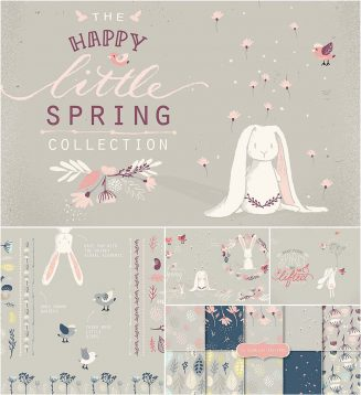 Happy Spring illustration collection